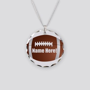 Personalized Football Necklace Circle Charm