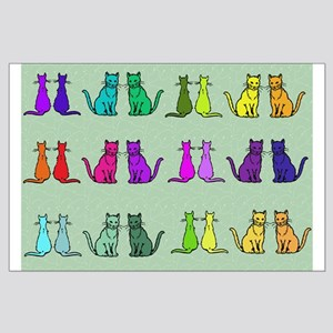 Rainbow Of Cats Large Poster