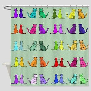 Rainbow Of Cats Shower Curtain