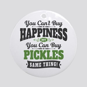 Pickles Happiness Round Ornament