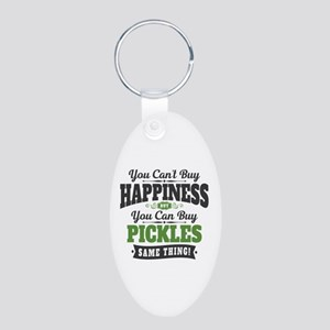 Pickles Happiness Aluminum Oval Keychain
