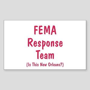 FEMA Response Rectangle Sticker