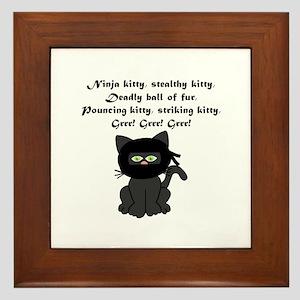 Ninja Kitty Framed Tile
