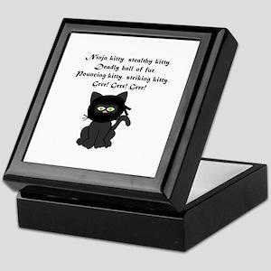 Ninja Kitty Keepsake Box