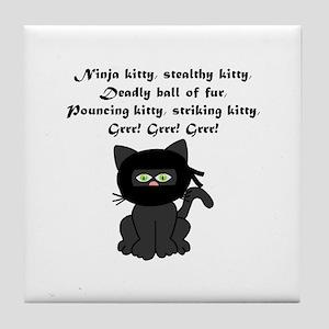 Ninja Kitty Tile Coaster