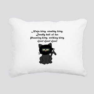 Ninja Kitty Rectangular Canvas Pillow