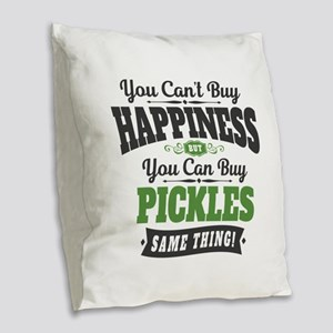 Pickles Happiness Burlap Throw Pillow