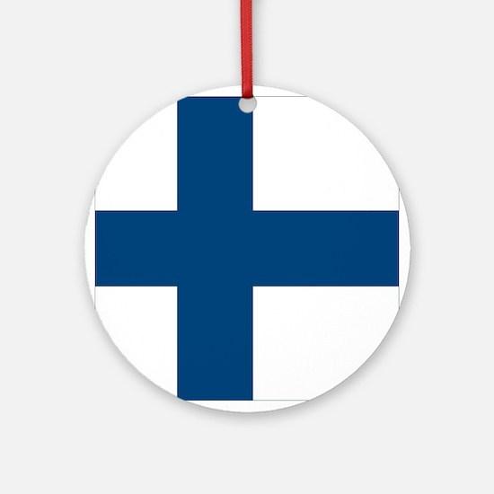 Finnish Flag Ornament (Round)