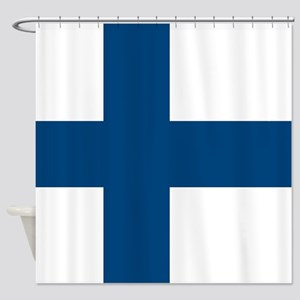 Finnish Flag Shower Curtain