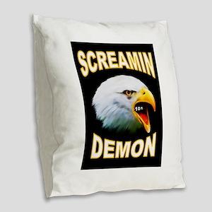 SCREAMIN DEMON Burlap Throw Pillow