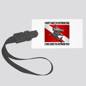 Dive Flag (Outswim) Luggage Tag