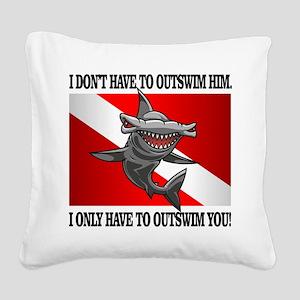 Dive Flag (Outswim) Square Canvas Pillow