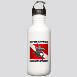 Dive Flag (Outswim) Water Bottle