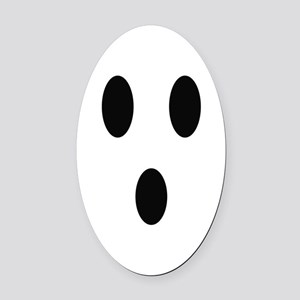 Ghost Face Oval Car Magnet