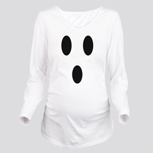 Ghost Face Long Sleeve Maternity T-Shirt