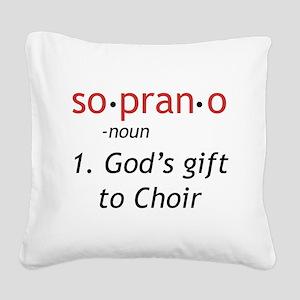 Soprano Definition Square Canvas Pillow