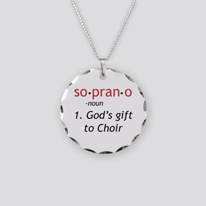Soprano Definition Necklace Circle Charm