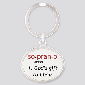 Soprano Definition Oval Keychain