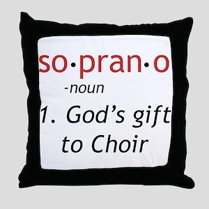 Soprano Definition Throw Pillow