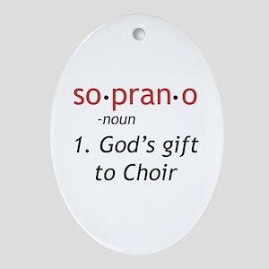 Soprano Definition Ornament (Oval)