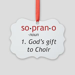 Soprano Definition Picture Ornament