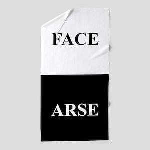 ARSE FACE Beach Towel