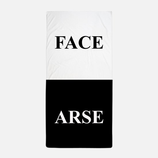 ARSE FACE Beach Towel