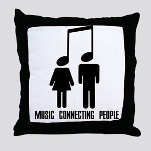 Music Connecting People Throw Pillow