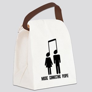 Music Connecting People Canvas Lunch Bag