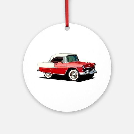 BabyAmericanMuscleCar_55BelR_Xmas_Red Ornament (Ro