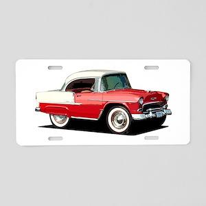 BabyAmericanMuscleCar_55BelR_Xmas_Red Aluminum Lic