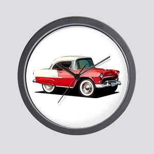 BabyAmericanMuscleCar_55BelR_Xmas_Red Wall Clock