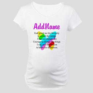 SERENITY PRAYER Maternity T-Shirt