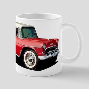 BabyAmericanMuscleCar_55BelR_Xmas_Red Mugs
