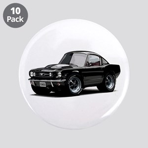 "abyAmericanMuscleCar_65_mstg_Xmas_Black 3.5"" Butto"