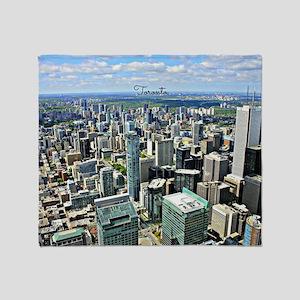 Toronto, Canada cityscape Throw Blanket