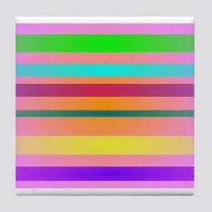 Warm Stripes Tile Coaster