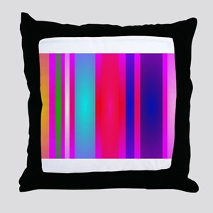 Stripes Art Red Throw Pillow