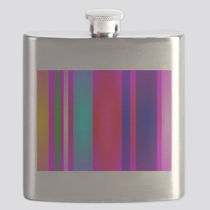 Stripes Art Red Flask