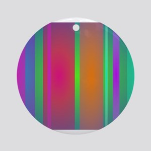 Tranquility Stripes Ornament (Round)