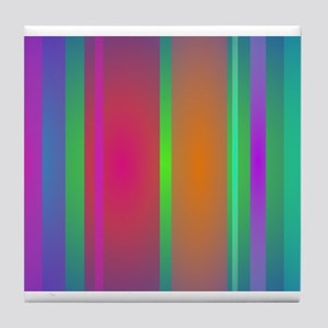 Tranquility Stripes Tile Coaster