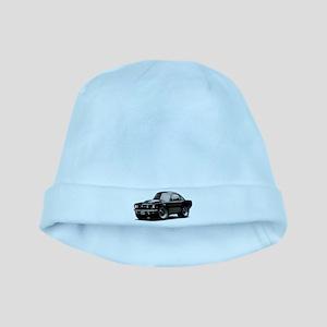 abyAmericanMuscleCar_65_mstg_Xmas_Black baby hat