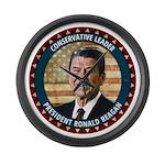 President Ronald Reagan Large Wall Clock