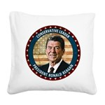 President Ronald Reagan Square Canvas Pillow