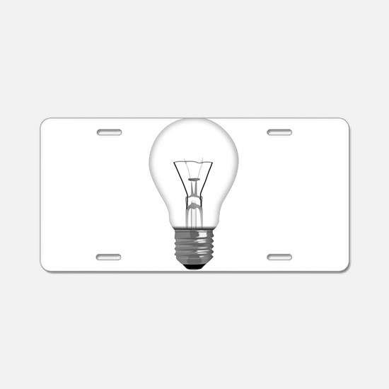 Light Bulb Aluminum License Plate