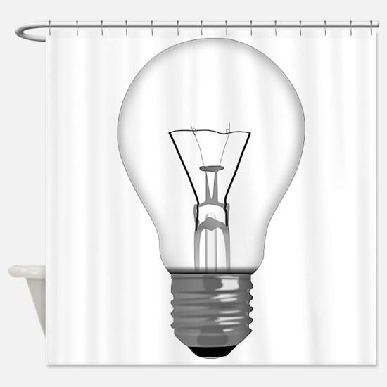 Light Bulb Shower Curtain