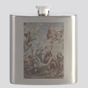 The Scales of Justice Flask