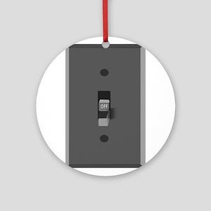 Light Switch Off Ornament (Round)