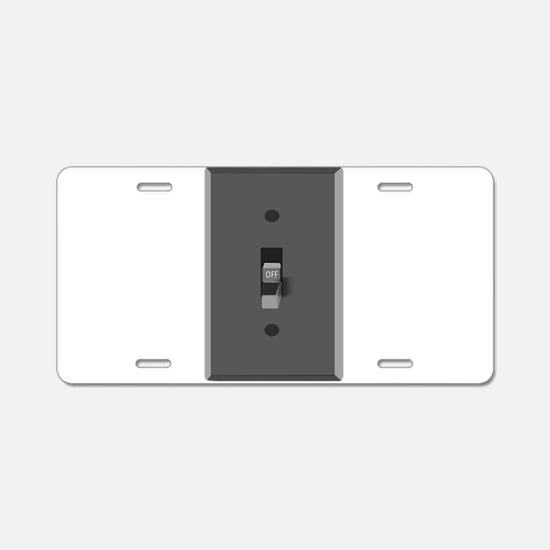 Light Switch Off Aluminum License Plate