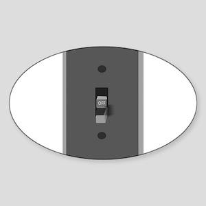 Light Switch Off Sticker